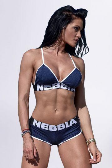 NEBBIA Fitness melltartó 267 - Kék