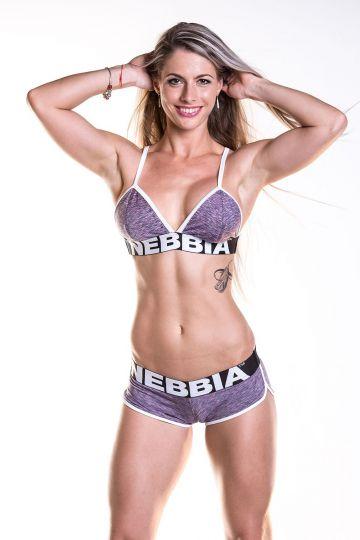 NEBBIA Fitness podprsenka 267 - Fialová
