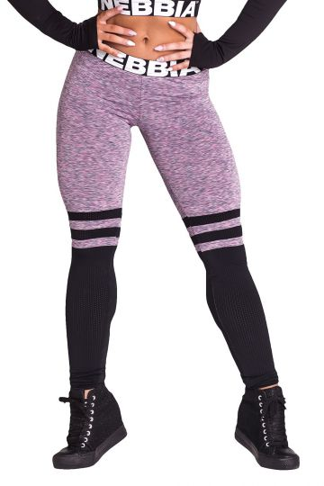 NEBBIA Over the knee - Purple leggings 286