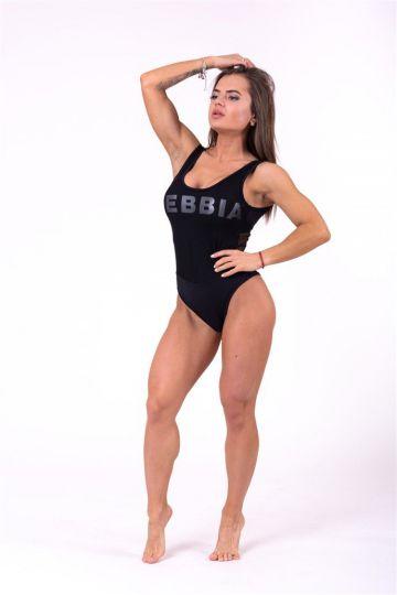 NEBBIA Sportos egyrészes fürdőruha hálóval 674