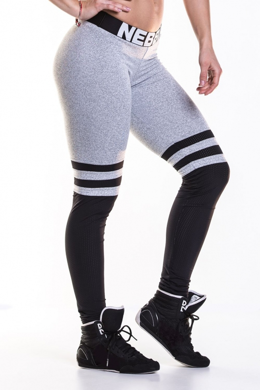 NEBBIA Over the knee - Grey leggings 286