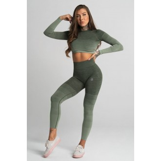 Gym Glamour Leggings Varrat nélküli Khaki Ombre