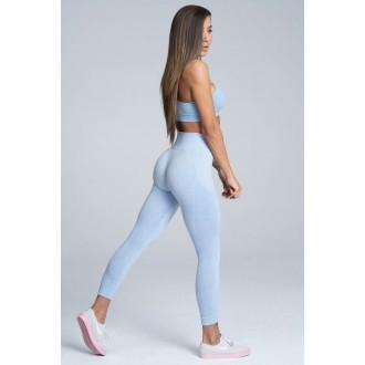 Gym Glamour Leggings Varrat nélküli Dream Blue