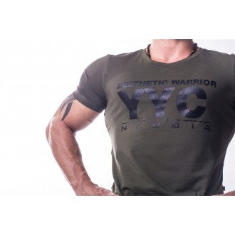 NEBBIA AW Atheltic logo trikó 730 Khaki