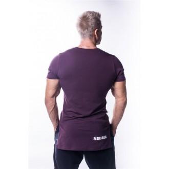 NEBBIA AW Atheltic logo trikó 730 - Burgundi