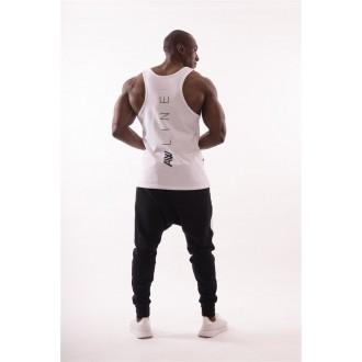 "NEBBIA AW 90""S Muscle ujjatlan trikó 723 - Fehér"