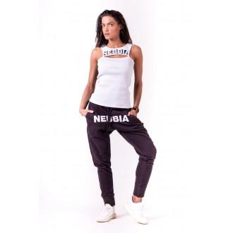 NEBBIA Rib Cut Out női top 678 - Fehér