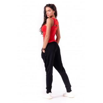 NEBBIA Rib Cut Out női top 678 Piros
