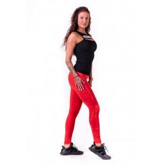 NEBBIA One tone pattern női leggings 677 - Piros