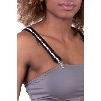NEBBIA Bikini top bandeau lekapcsolható pántokkal 672 - Szürke