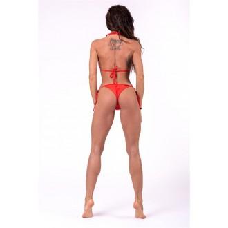 NEBBIA Scrunch butt fűzős bikini alsó rész 673 - Piros