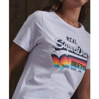 Superdry női póló Vintage Logo - Fehér