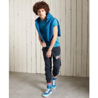 Superdry férfi póló Orange Label Embroidery - Kék