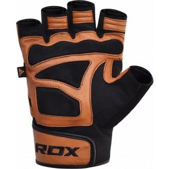 RDX S12 Fitness kesztyű - Barna