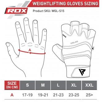 RDX S15 Fitness kesztyű - Szürke