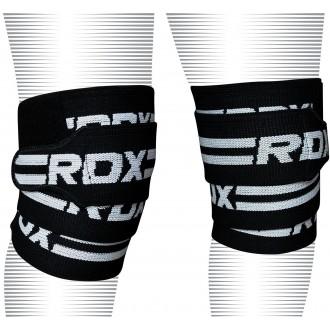 RDX K2 Térdbandázs - Fekete/fehér
