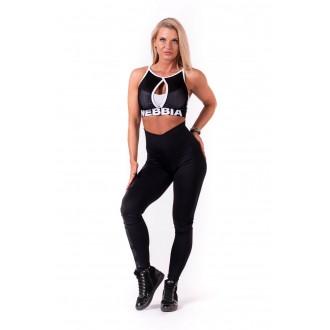 NEBBIA One tone pattern női leggings 677 - Fekete