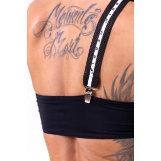 NEBBIA Bikini top bandeau lekapcsolható pántokkal 672 - Fekete