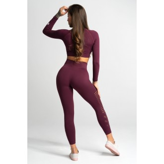 Gym Glamour Leggings Varrat nélküli Dark Berry