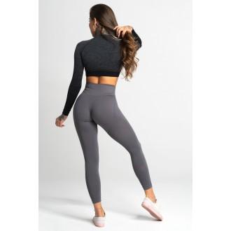Gym Glamour Leggings Varrat nélküli Silvery