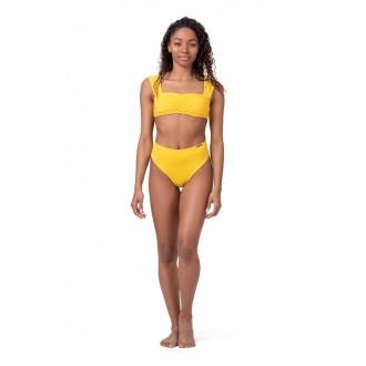 Nebbia Bikini alsó High Waist Retro 555 - Sárga
