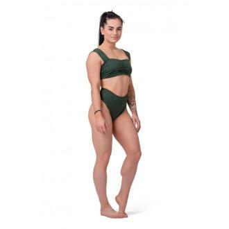 Nebbia Bikini alsó High Waist Retro 555 - Sötétzöld