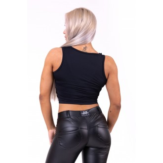 Nebbia crop top More than basic 690 - Fekete