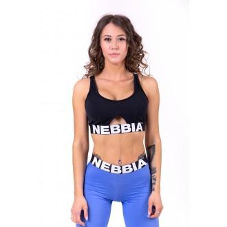 Nebbia Női sportmelltartó Athletic Cut Out 695 - Fekete