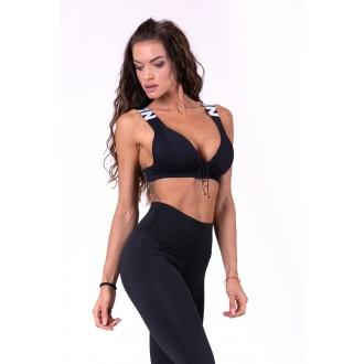Nebbia Női sportmelltartó Lace up 694 - Fekete