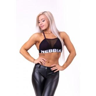 Nebbia Női sportmelltartó Mesh 692 - Burgundi