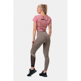 Nebbia Fit & Smart leggings magasított derékkal 572 - Mocha