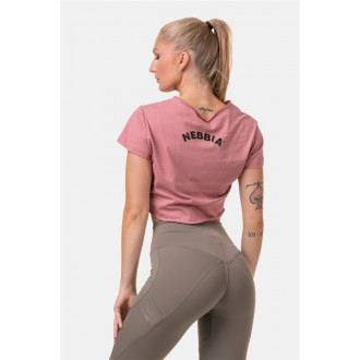 Nebbia Laza Fit & Sporty crop top 583 - Old Rose