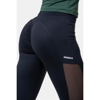 Nebbia Mesh leggings magasított derékkal 573 - Black