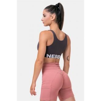Nebbia Smart Zip Női sportmeltartó 578 - Marron