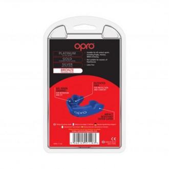 Opro Bronze Fogvédő - Kék