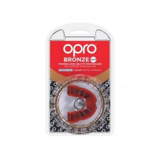Opro Bronze gyerek fogvédő - Piros
