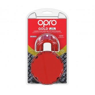 Opro Gold Braces fogvédő - piros
