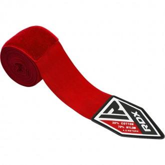 RDX Elasztikus Boksz bandázs 4.5m - Piros