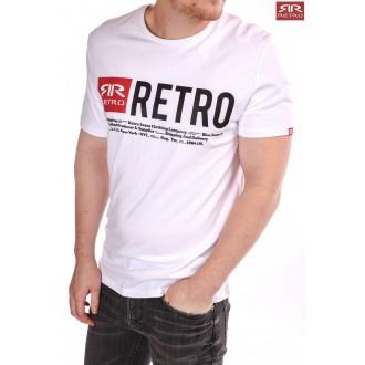 Retro Jeans Férfi Póló Ermin - Fehér
