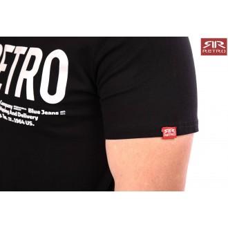 Retro Jeans Férfi Póló Ermin - Fekete