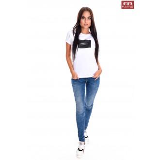 Retro Jeans Női Póló Shela - Fehér