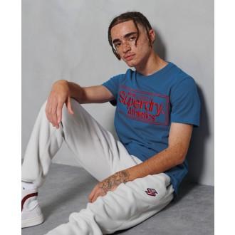 Superdry férfi póló Classic Logo Athletic Kék