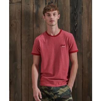 Superdry férfi póló Orange Label Ringer Piros