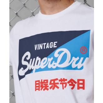 Superdry férfi póló Vintage Logo Primary Fehér